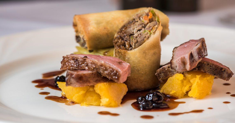 Delicious food at the Penventon Park Hotel