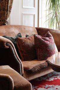 Ralph Lauren Sofa in the Lounge at Penventon Park Hotel