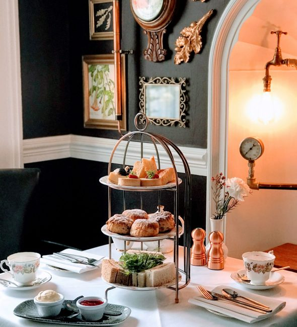 Afternoon Tea at the Penventon Park Hotel in Cornwall